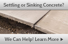 Setting and Sinking Concrete Repair by Woodford Bros., Inc.